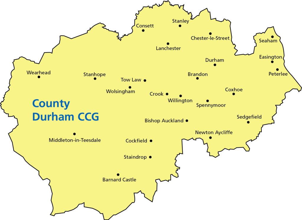 County Durham CCG area map
